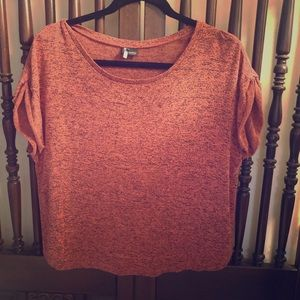 Anthropologie Sparkle And Fade Crop Top Shirt